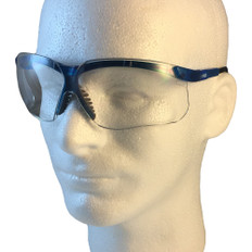 Uvex #S3240 Genesis Safety Eyewear Vapor Blue Frame w/ Clear Lens