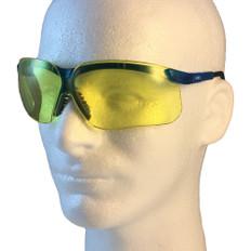 Uvex #S3242 Genesis Safety Eyewear Vapor Blue Frame w/ Amber Lens
