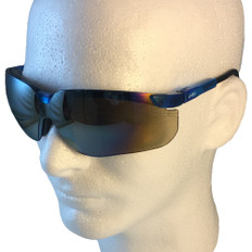 Uvex #S3243 Genesis Safety Eyewear Vapor Blue Frame w/ Gold Mirror Lens