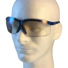 Uvex #S3244 Genesis Safety Eyewear Vapor Blue Frame w/ Indoor Outdoor Lens