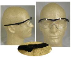 MCR Crews #ST120 Storm Safety Eyewear Blue Frame w/ Clear Lens