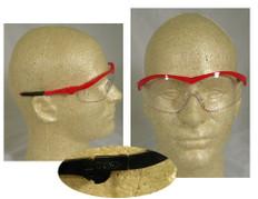 MCR Crews #ST130 Storm Safety Eyewear Red Frame w/ Clear Lens