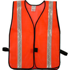 Safety Vests Orange Standard (1 3/8 inch Silver Stripes)