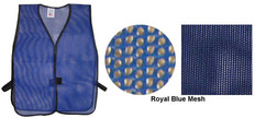 PVC Coated Assorted Colors Plain Vest - Royal Blue