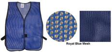 PVC Coated Assorted Colors Plain Vest - Royal Blue
