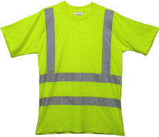 Class Three Level 2 LIME safety MESH SHIRTS with Silver stripes