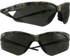 Jackson #3020707 Nemesis CAMO Safety Eyewear w/ Fog Free Smoke Lens