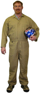 Nomex IIIA Coveralls - Khaki Color - Sizes Small to 5XL