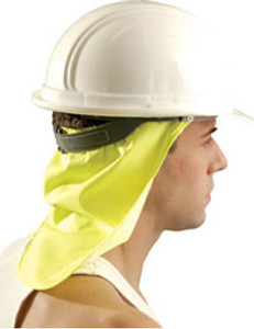 Occunomix #971-HVY Safety Helmet Yellow Neck Shade