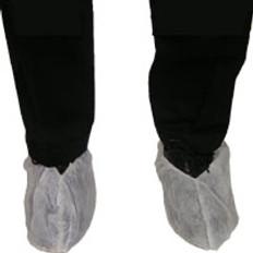 Polypropylene Shoe Covers Plain White (10 PAIR SAMPLE PACK)
