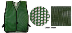 PVC Coated Assorted Colors Plain Vest – Green
