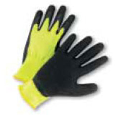 Seamless Conforming Glove with Black Palm - Lime- (sold by the dozen)