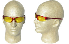 Smith and Wesson #3016310 Equalizer Safety Eyewear Red Frame w/ Amber Lens