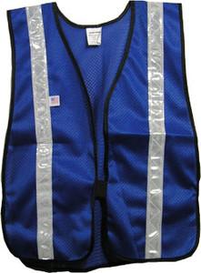 Soft Mesh Royal Blue Vests with Silver Stripes