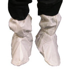Sunsoft Boot Cover with PVC waffle sole, Impervious 18 inch tall with elastic top, WHITE (200 Pair)