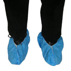 Sunsoft Heavy Duty PE coated shoe cover (150 Pair in case)