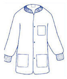 Sunlite Ultra Lab Jacket Special Colors with 3 pockets, snap front, knit collar and cuffs (10 per pack)