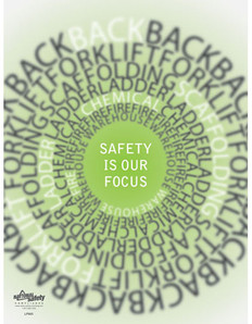 Safety is Our Focus Safety Poster (18 by 24 inch)