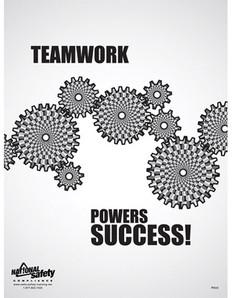 Teamwork Powers Success Safety Poster - 18X24