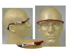 Uvex #S1169 Astro 3000 Safety Eyewear Red/White/Blue Frame w/ Clear Lens