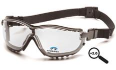 Pyramex #GB1810STR20 V2G Safety Eyewear w/ 2.0 Fog Free Clear Lens