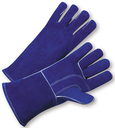 Welding Gloves with Blue Leather & Kevlar Fiber Stitches (SOLD BY THE PAIR)