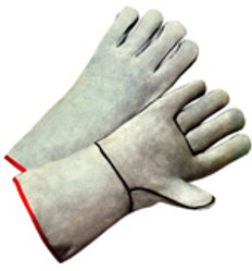Welding Gloves with Gray Leather (SOLD BY THE PAIR)