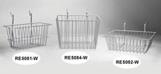 Wire Basket 12inch x 12inch x 4inch, white
