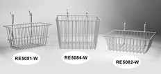 Wire Basket 12inch x 6inch x 6inch, white