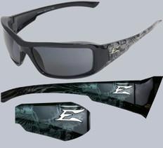 Edge #XB116-S Brazeau Safety Eyewear Skull Frame w/ Smoke Lens