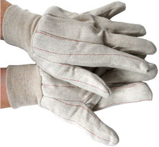 Double Palm Cotton/Polyester (Polychord) Gloves 24 Ounce (by the pair)