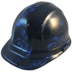 Hydrographic CAP STYLE Hard Hat-Ratchet Suspension – Hades Skull Blue