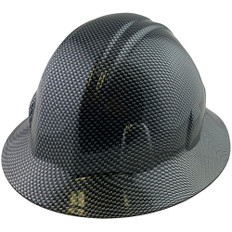 Hydrographic  FULL BRIM Hard Hat-Ratchet Suspension - Carbon Fiber Design