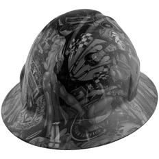 Hydrographic FULL BRIM Hard Hat-Ratchet Suspension - Shaw Naughty Dirty Side