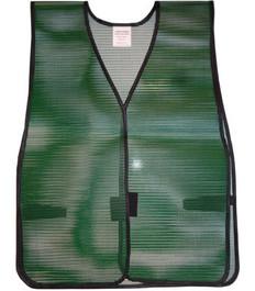 Safety Vest Plain PVC Coated Dark Green