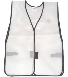 Safety Vest Plain PVC Coated  White