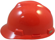 MSA # 10057444 V-Gard Cap Style Safety Helmets with One Touch Liners Standard Orange