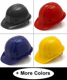 Pyramex 4 Point Cap Style  Helmets with RATCHET Liners (All Colors)