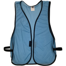 Safety Vest Plain Soft Mesh - Sky Blue