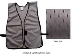 Safety Vest Plain Soft Mesh - Light Gray