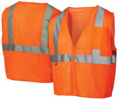 Pyramex Hi-Vis Mesh Class 2  Safety Vests – Orange w/ Silver Stripes - RVZ2120
