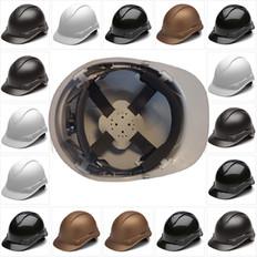 Pyramex Cap Style RIDGELINE Hard Hats - 4 Point Ratchet Suspensions - All Patterns