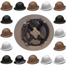 Pyramex Ridgeline Full Brim Safety Helmets with 4 Point RATCHET Liners - All Patterns