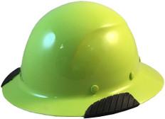 DAX Actual Carbon Fiber Shell Hard Hat - Full Brim Hi-Viz Lime