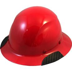 DAX Fiberglass Composite Full Brim Hard Hat - Red