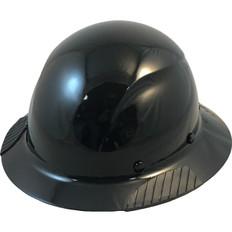 DAX Actual Carbon Fiber Shell Full Brim Hard Hat - Solid Black