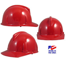 MSA # 475384 Topgard Protective Caps with Fas-Trac Liners Red