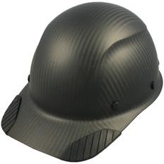 DAX Actual Carbon Fiber Shell Cap Style Hard Hat - Matte Black