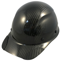 DAX Actual Carbon Fiber Shell Cap Style Hard Hat - Glossy Black