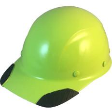 DAX Carbon Fiber Cap Style Hard Hat - Hi Viz Lime